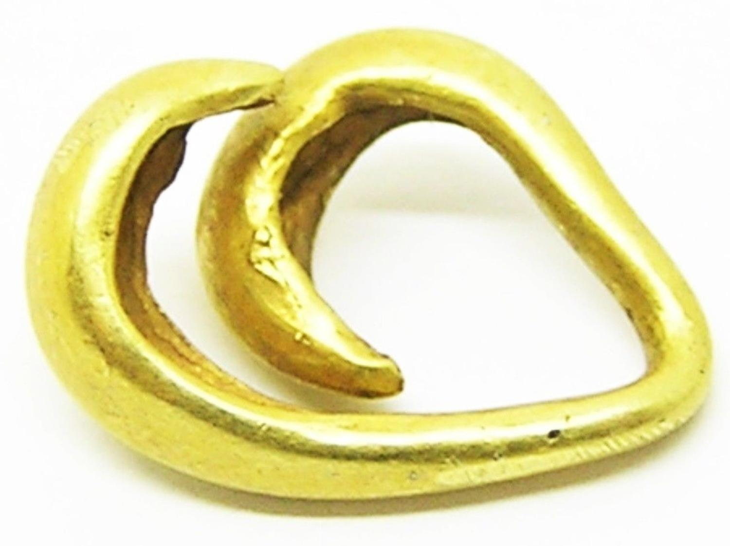 Ancient Middle Bronze Age Gold Lock Ring Money
