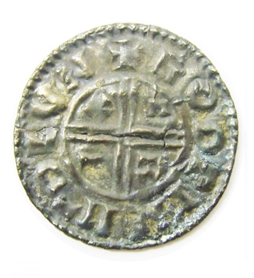Silver Penny of King Aethelred II Moneyer GOLDþINE of London