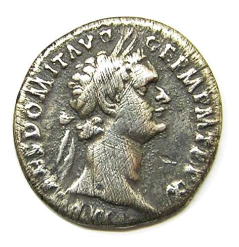 Silver Denarius of Emperor Domitian