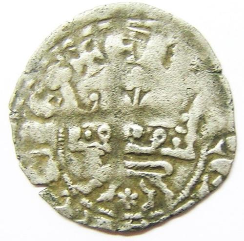 King Edward III Anglo-Gallic Silver Double Leopard Sous Couronne