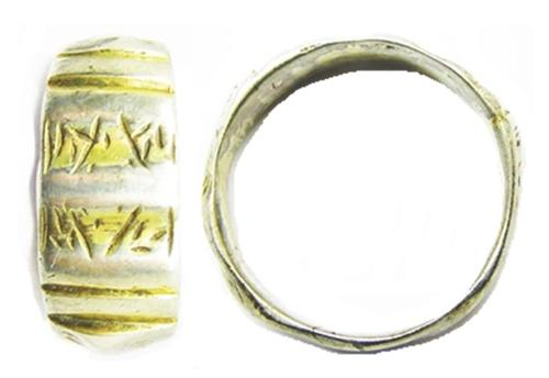 Silver Gilt Iconographic Finger Ring 'Reformation' Type