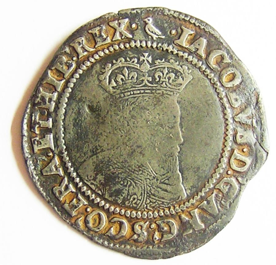 Irish Fine Silver Shilling of King James I