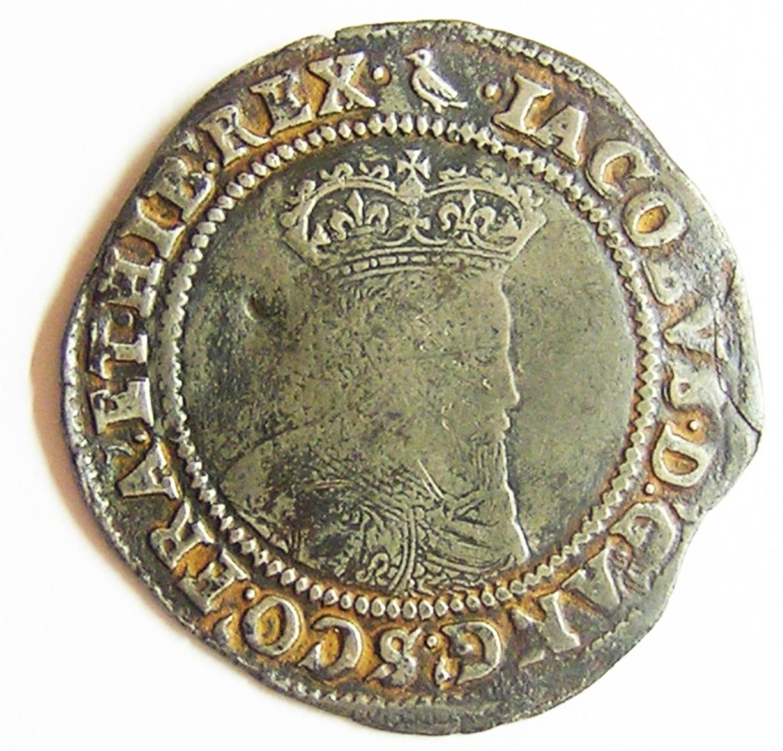 Irish Fine Silver Shilling of King James I