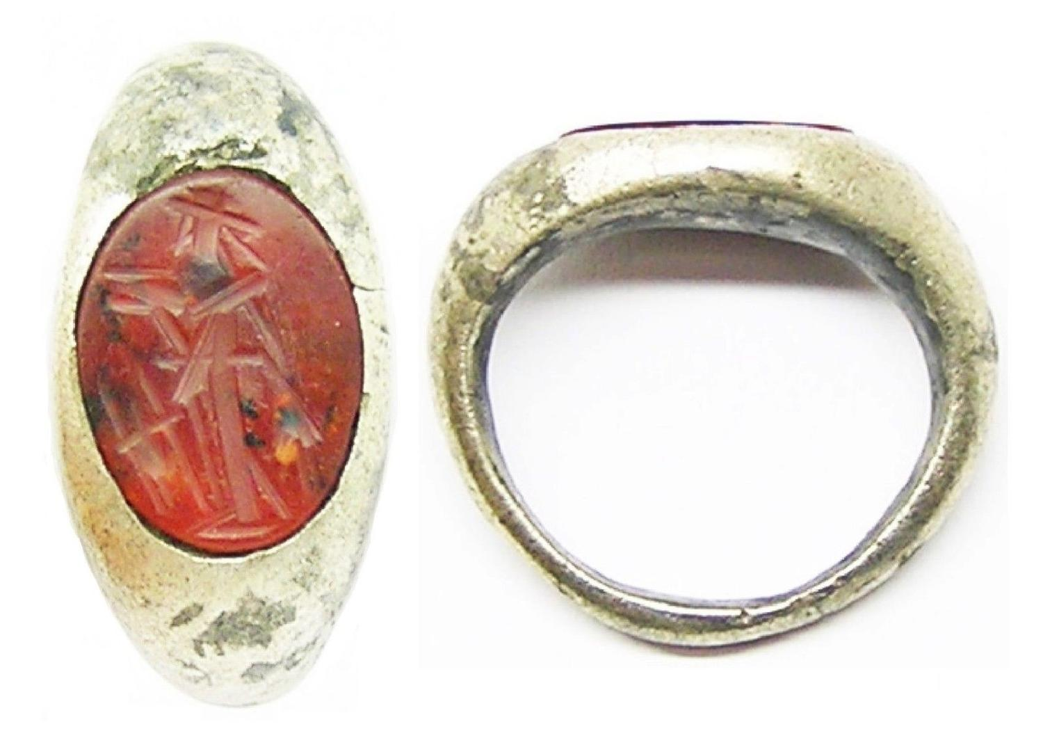 Snettisham Type Silver Roman Intaglio Ring of Ceres