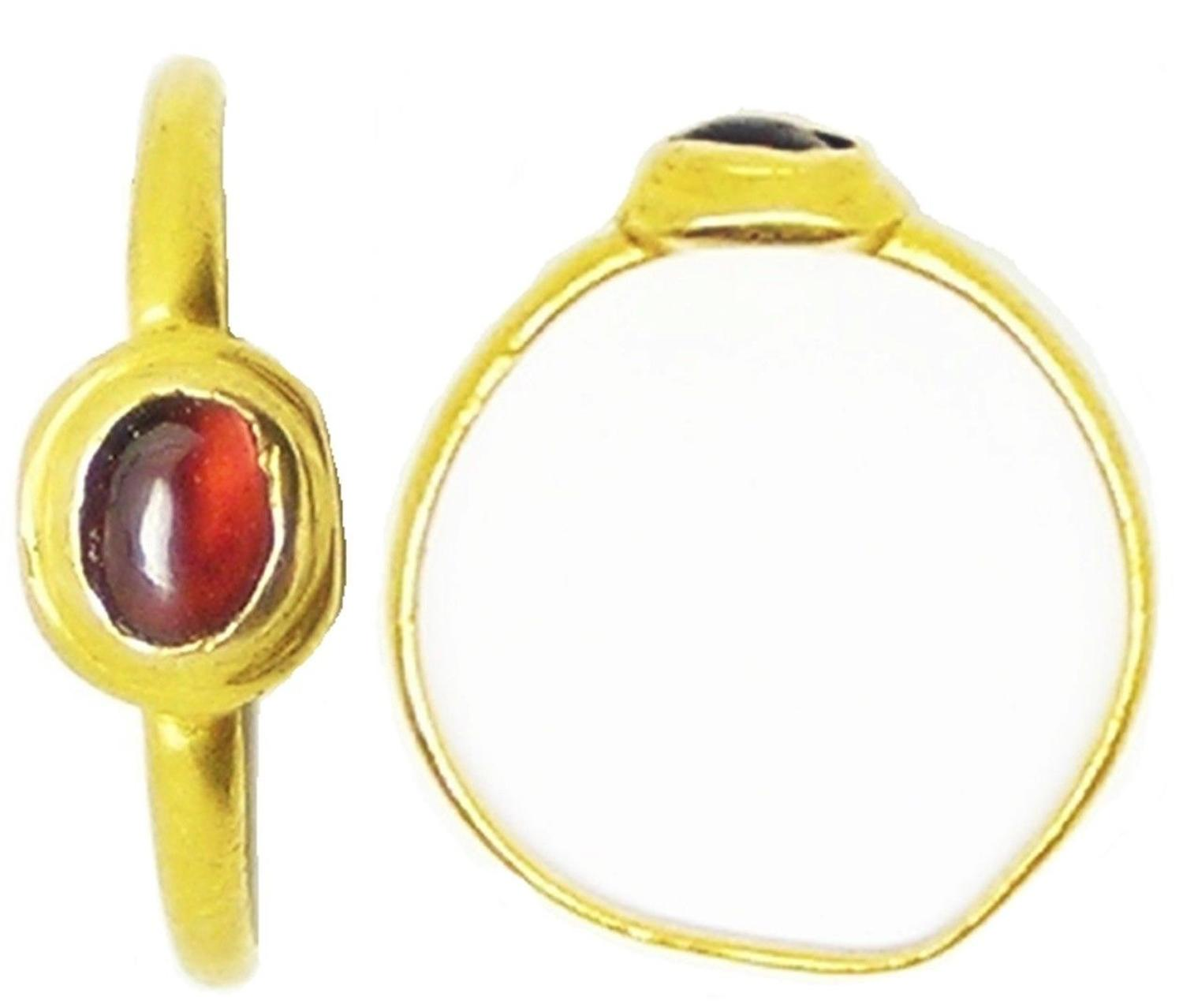 Medieval Gold & Garnet Gemstone Finger Ring