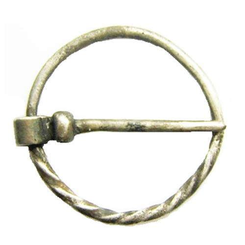 Medieval Silver Ring Brooch