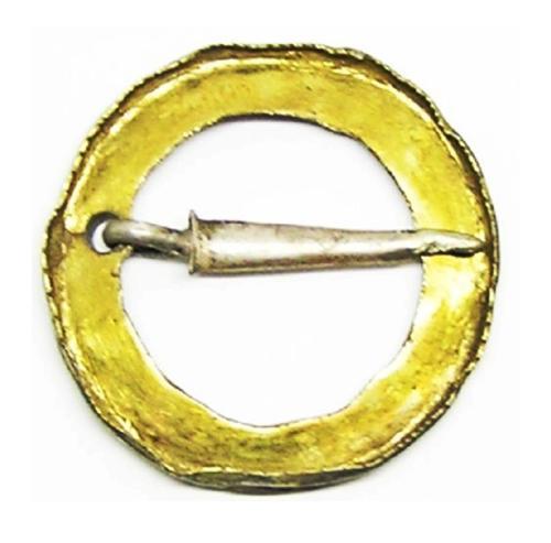 Medieval Silver Gilt Ring Brooch