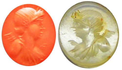 Ancient Roman Chalcedony Intaglio of Eros / Cupid god of Love