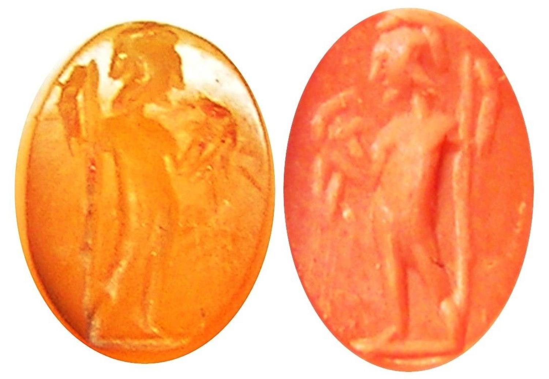 Ancient Roman Carnelian Intaglio of Mars