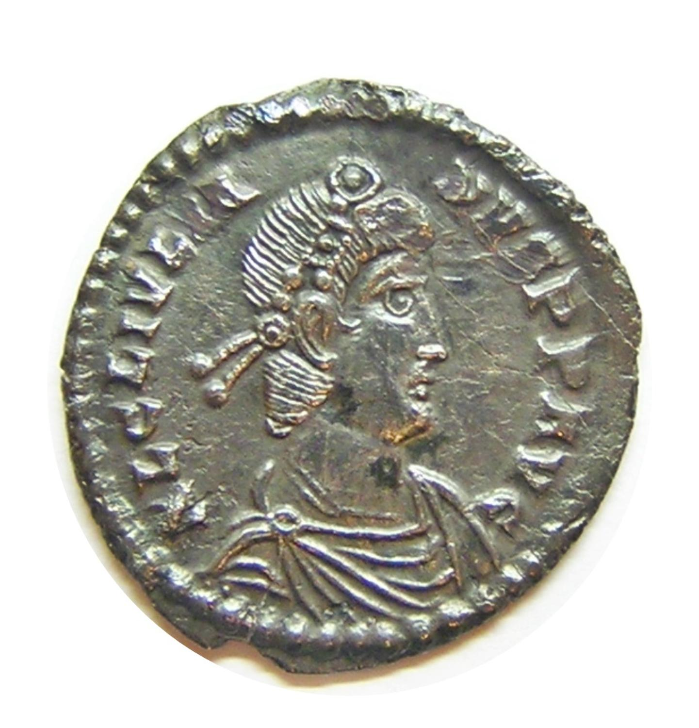 Roman Silver Siliqua of Julian II Struck at Lyons France EF