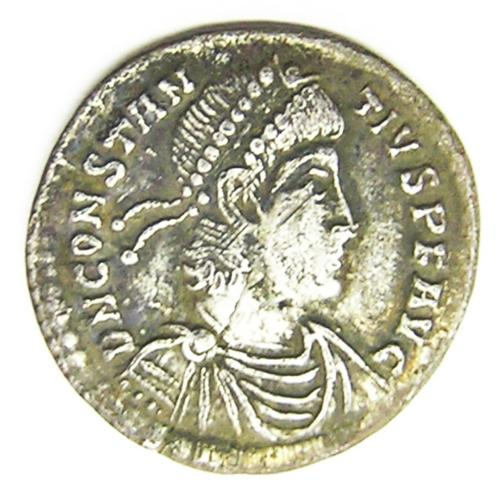Ancient Roman Silver Siliqua of Constantius II