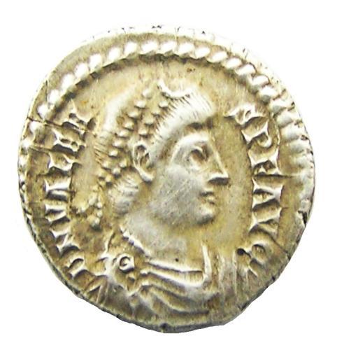 Roman Silver Siliqua of Emperor Valens EF