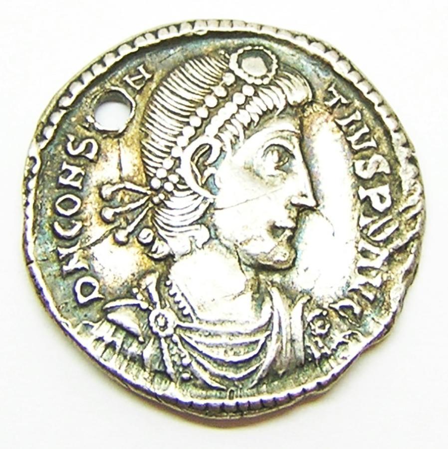 Rare Roman Silver Miliarense of Constantius II