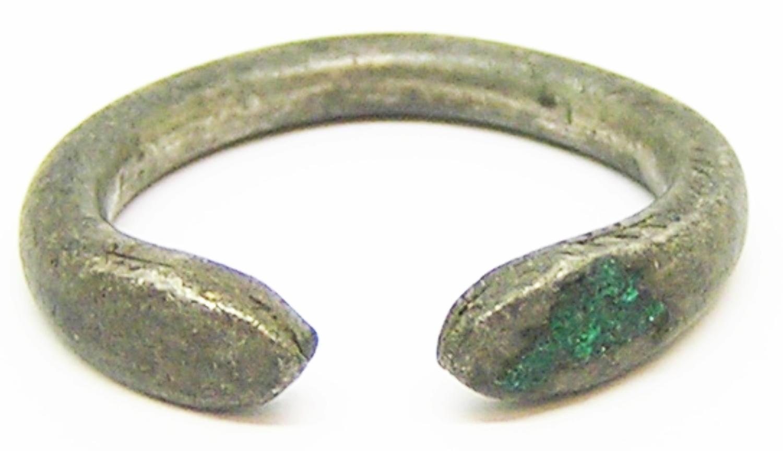 Roman Silver Finger Ring Healing Snake of Salus
