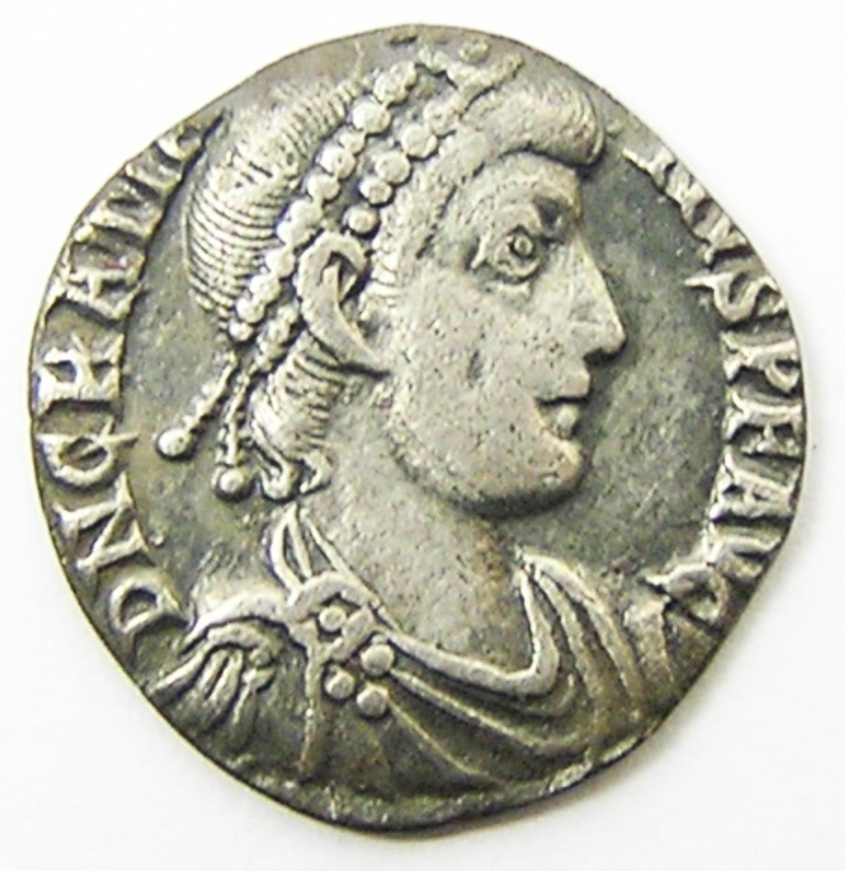 Silver Siliqua of Emperor Gratian
