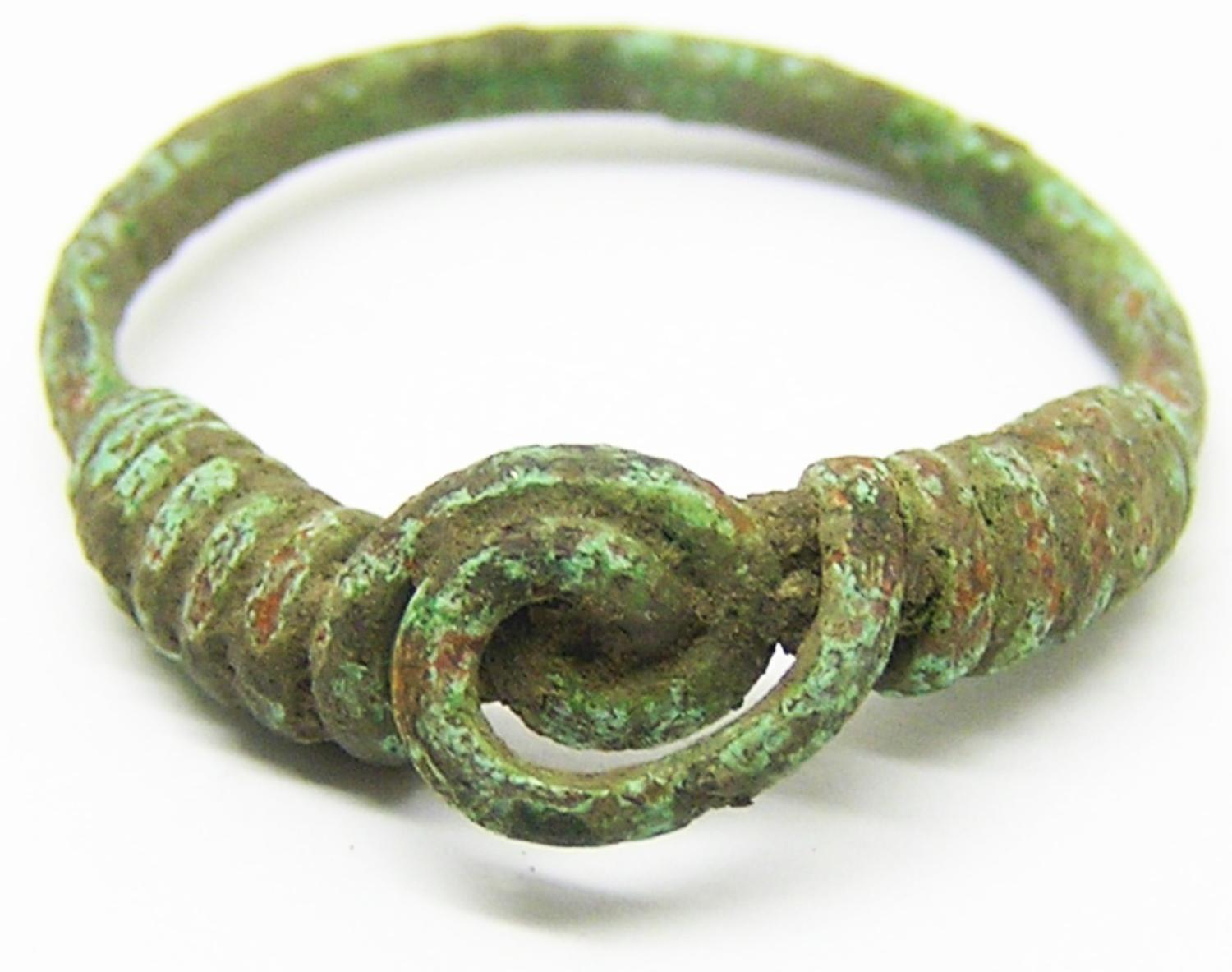 Early Roman bronze spiral ring