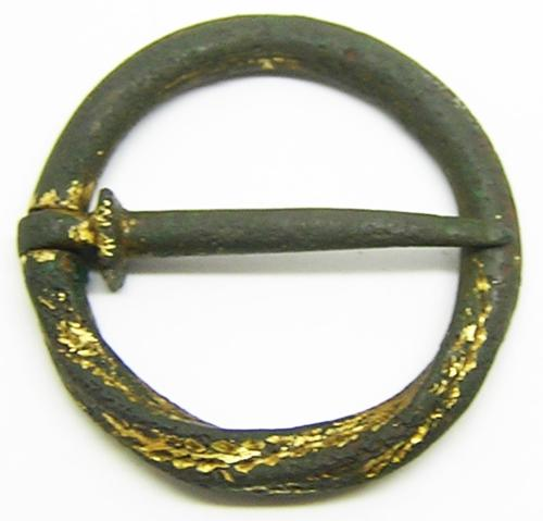 Medieval Bronze Ring Brooch