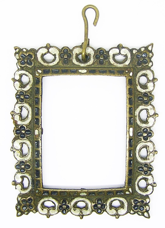 Tudor Period Enameled Portrait Miniature Frame Pendant