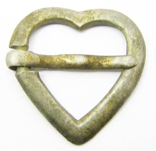 Medieval Silver Heart Shaped Brooch