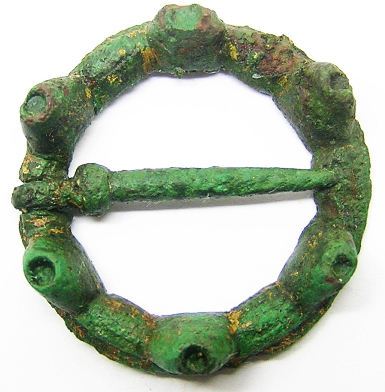 Medieval Bronze Ring Brooch