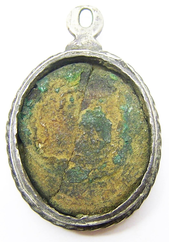 Baroque Silver Reliquary Pendant