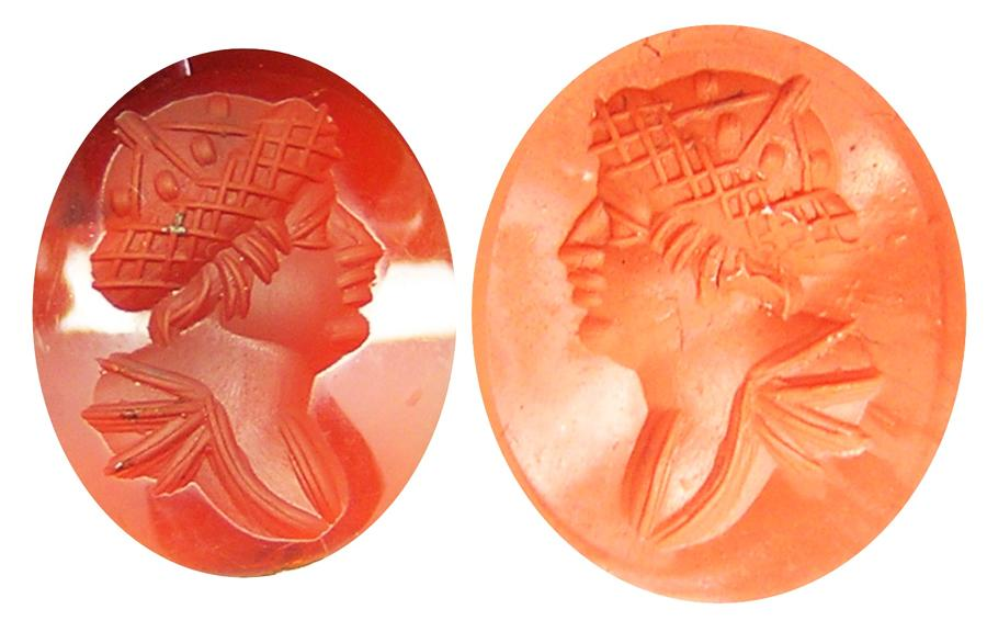 Classical Revival Hardstone Intaglio of Hermes