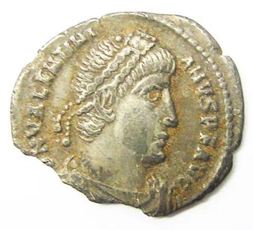Roman Silver Siliqua of Valentinian I Ex. Thruxton Hoard
