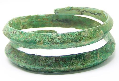 Ancient Hallstatt Coiled Bronze Bracelet
