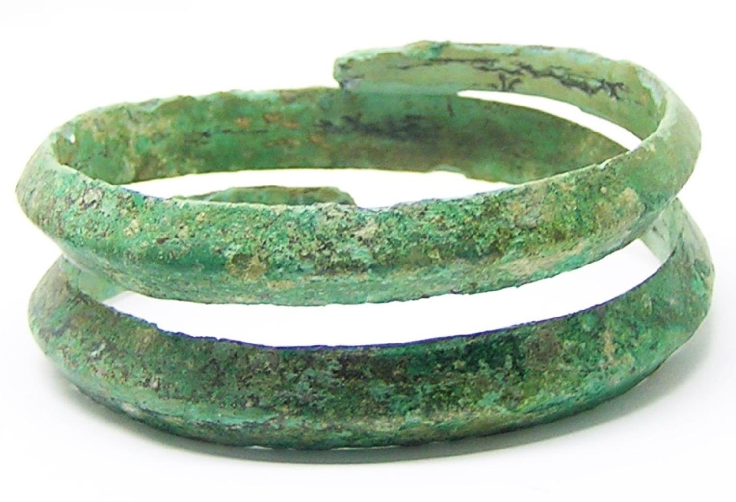 Ancient Hallstatt Coiled Bronze Bracelet