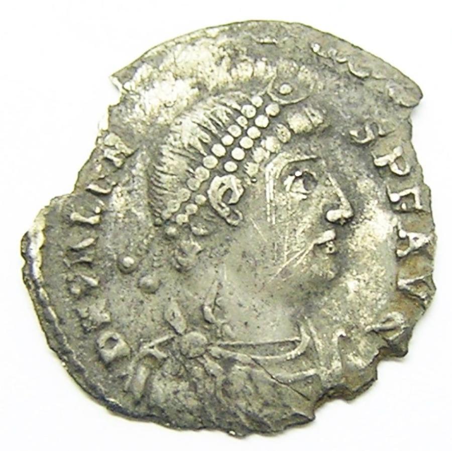 Roman Silver Siliqua of Emperor Valens Ex. Thruxton Hoard