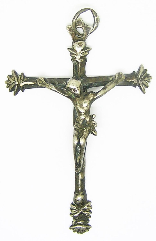 Renaissance Silver Pectoral Crucifix Pendant
