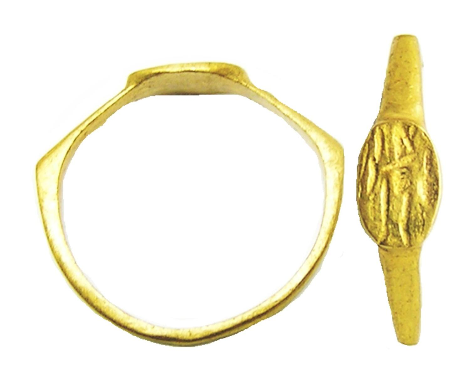 Roman Gold Signet Ring of Sol Invictus