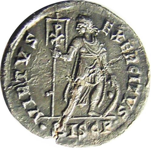 Roman Silver Miliarense of Emperor Gratian Ex. Thruxton Hoard