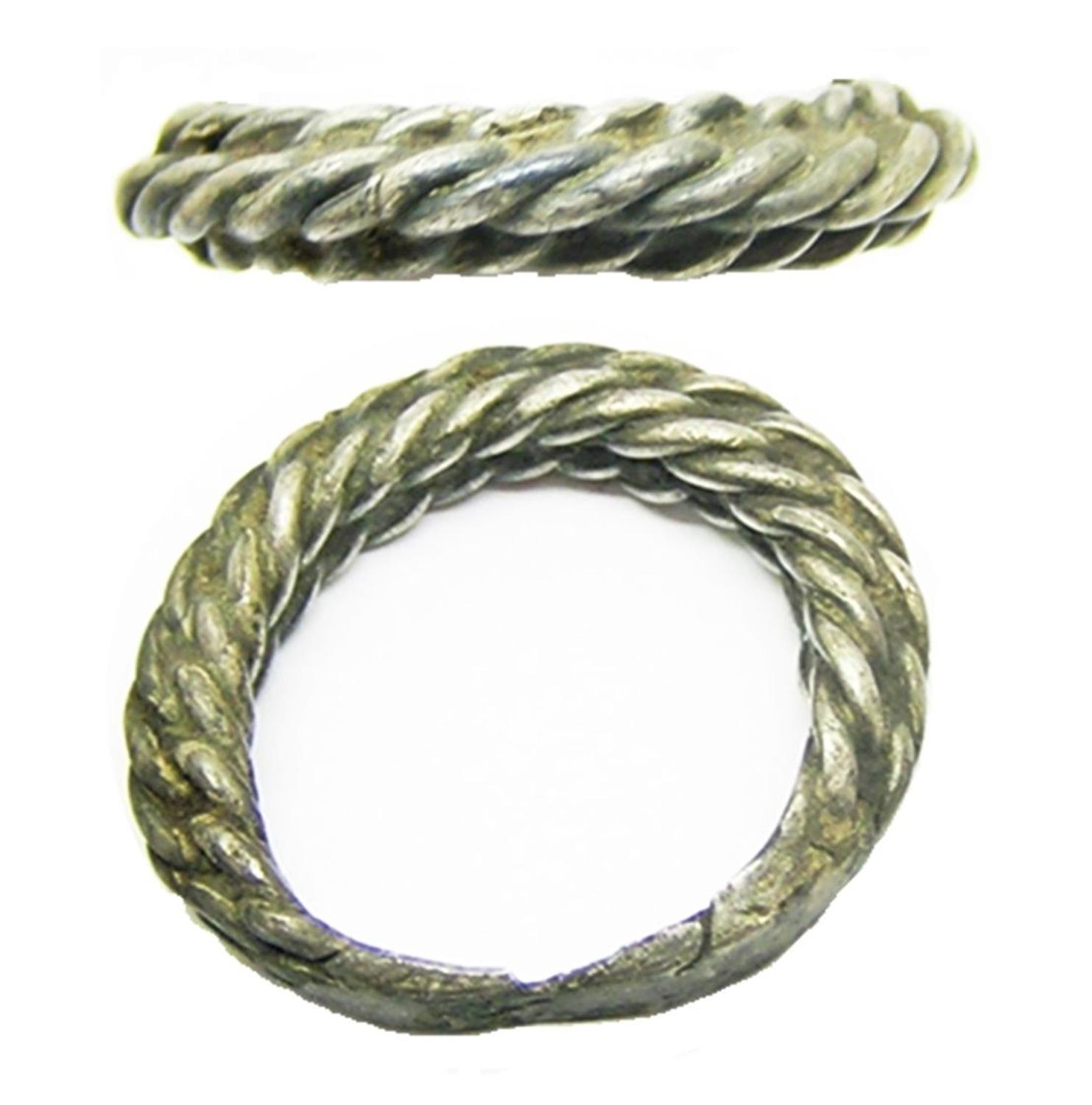 Viking Scandinavian Braided Type Silver Finger Ring