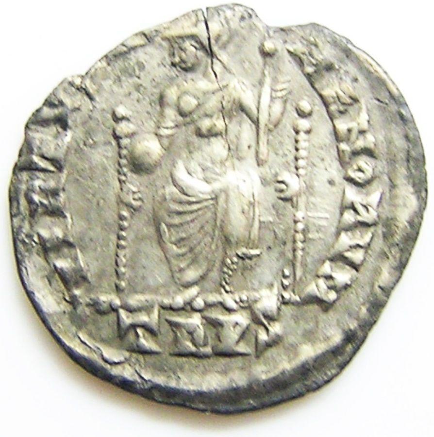 Roman Silver Siliqua of Emperor Gratian Ex. Thruxton Hoard