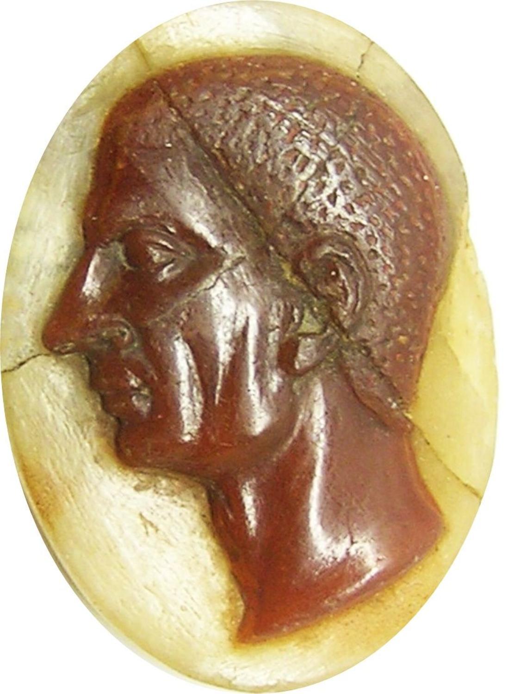 Ancient Roman Sardonyx Cameo of Scipio Africanus