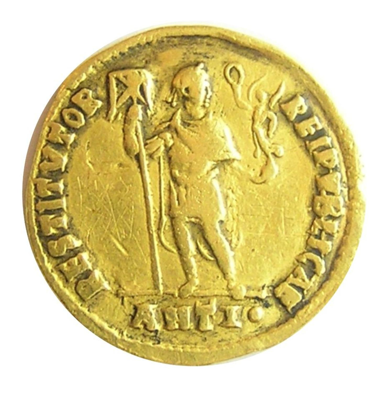 Roman Gold Solidus of Emperor Valens