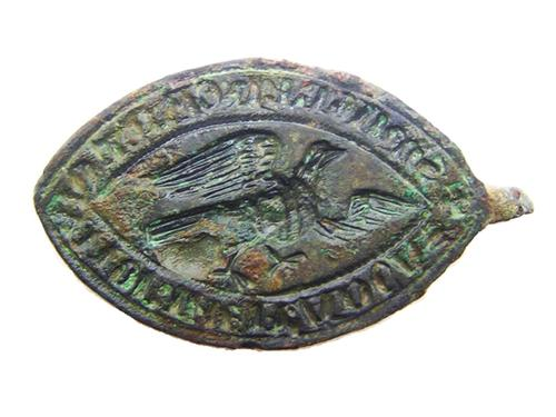 Medieval Vessica Shaped Seal Ecclesiastical Eagle