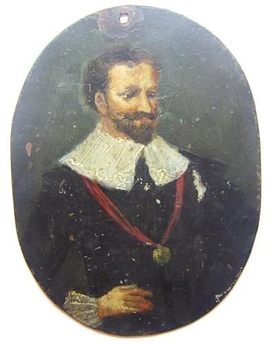 Portrait Miniature of a Gentleman Oil on Copper