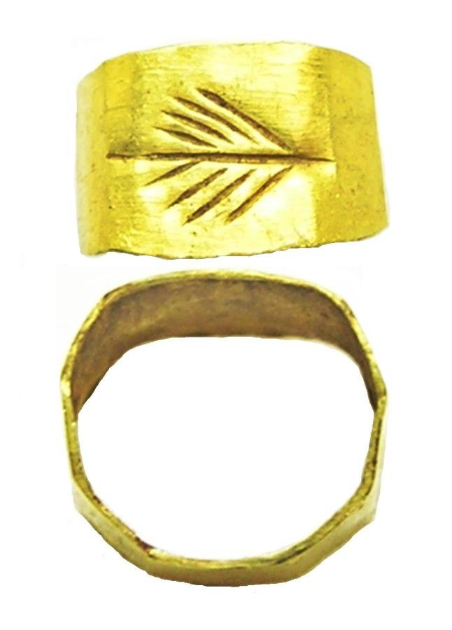 Roman Gold Finger Ring Victory Palm