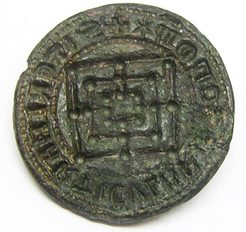Medieval Bronze Seal Nine Mens Morris Board Game Design