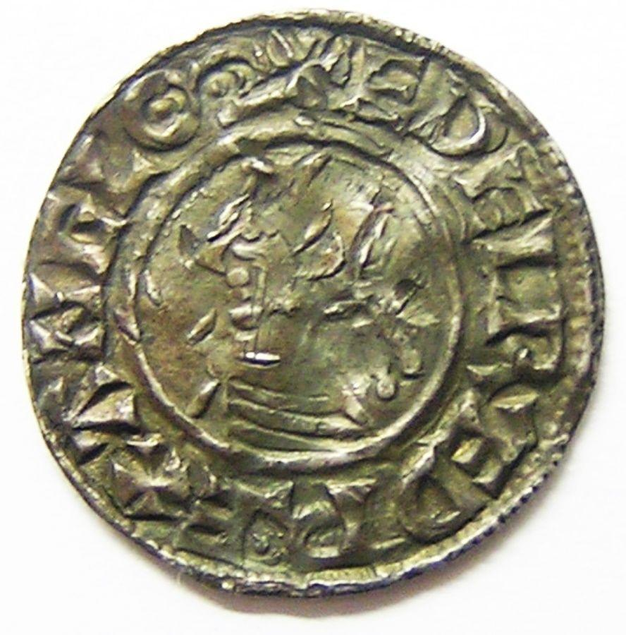 Silver Penny of King Aethelred II Moneyer Cynsige of Dover