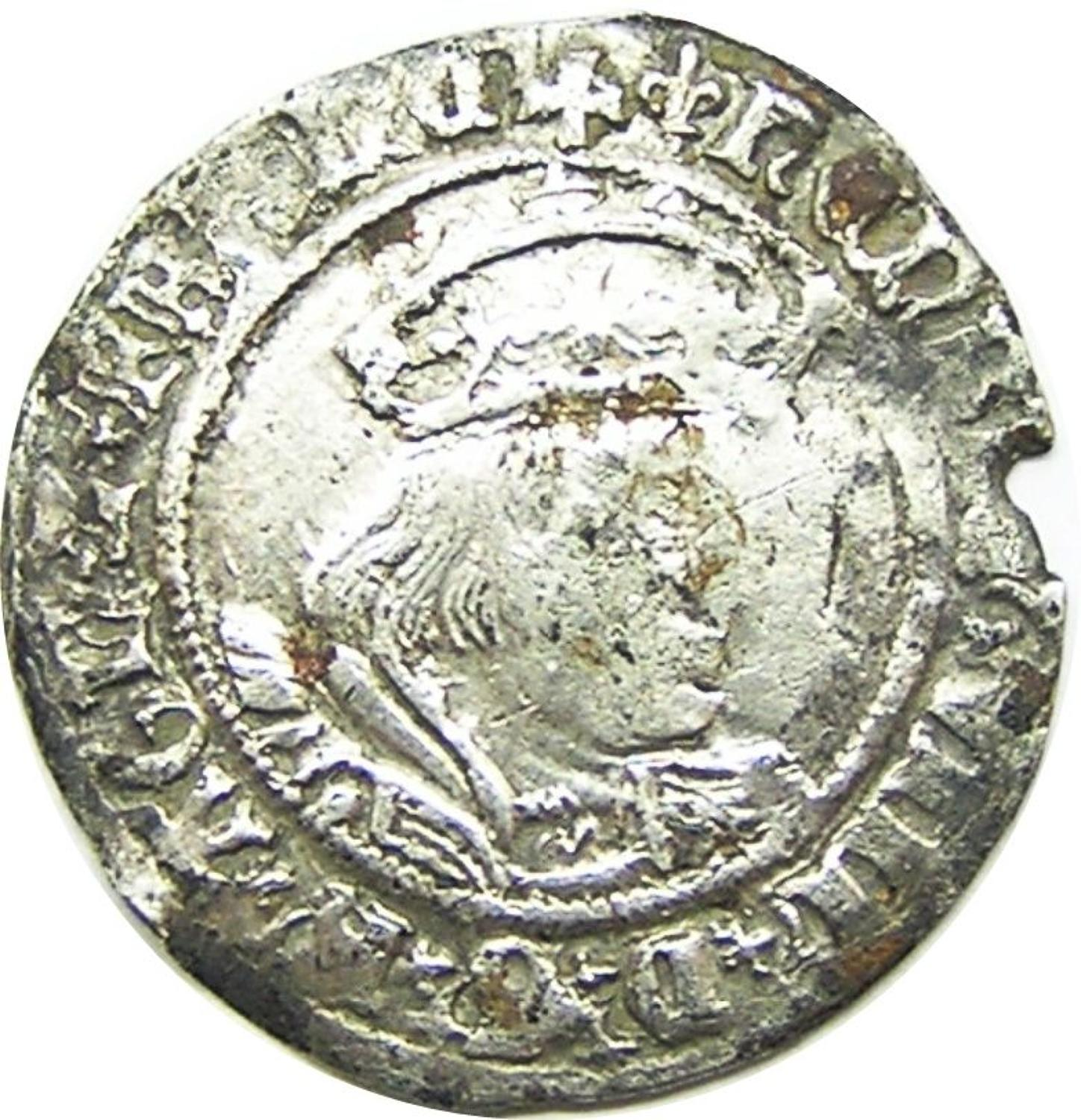 King Henry VIII Silver Groat of London Laker Bust type 'D'