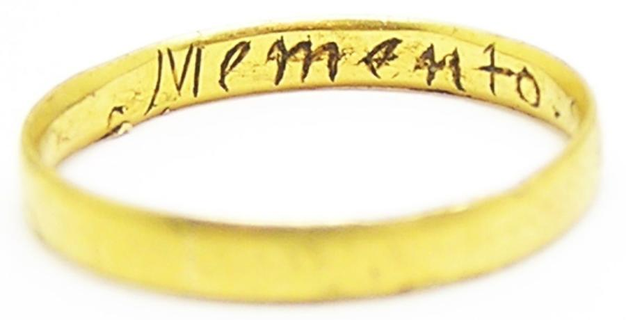 Gold Jacobite Memorial Ring of King James