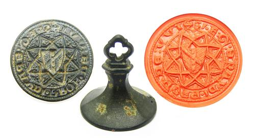 Exceptional Medieval Armorial Seal Matrice