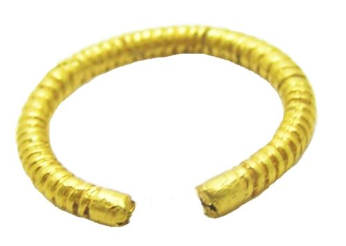 Iron Age Celtic Gold Plated Penannular Finger Ring