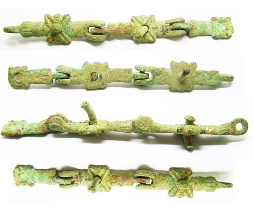 Medieval gilt bronze harness fitting