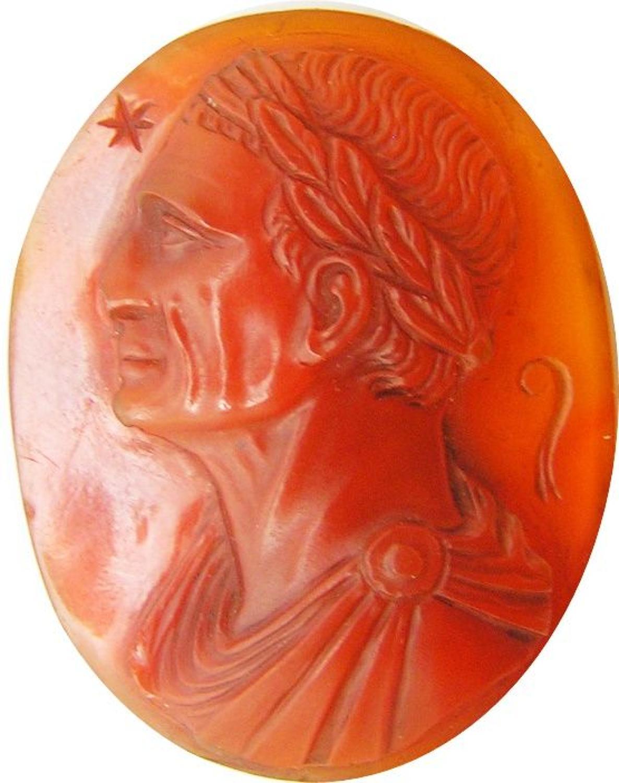 Renaissance hardstone relief cameo of Julius Caesar