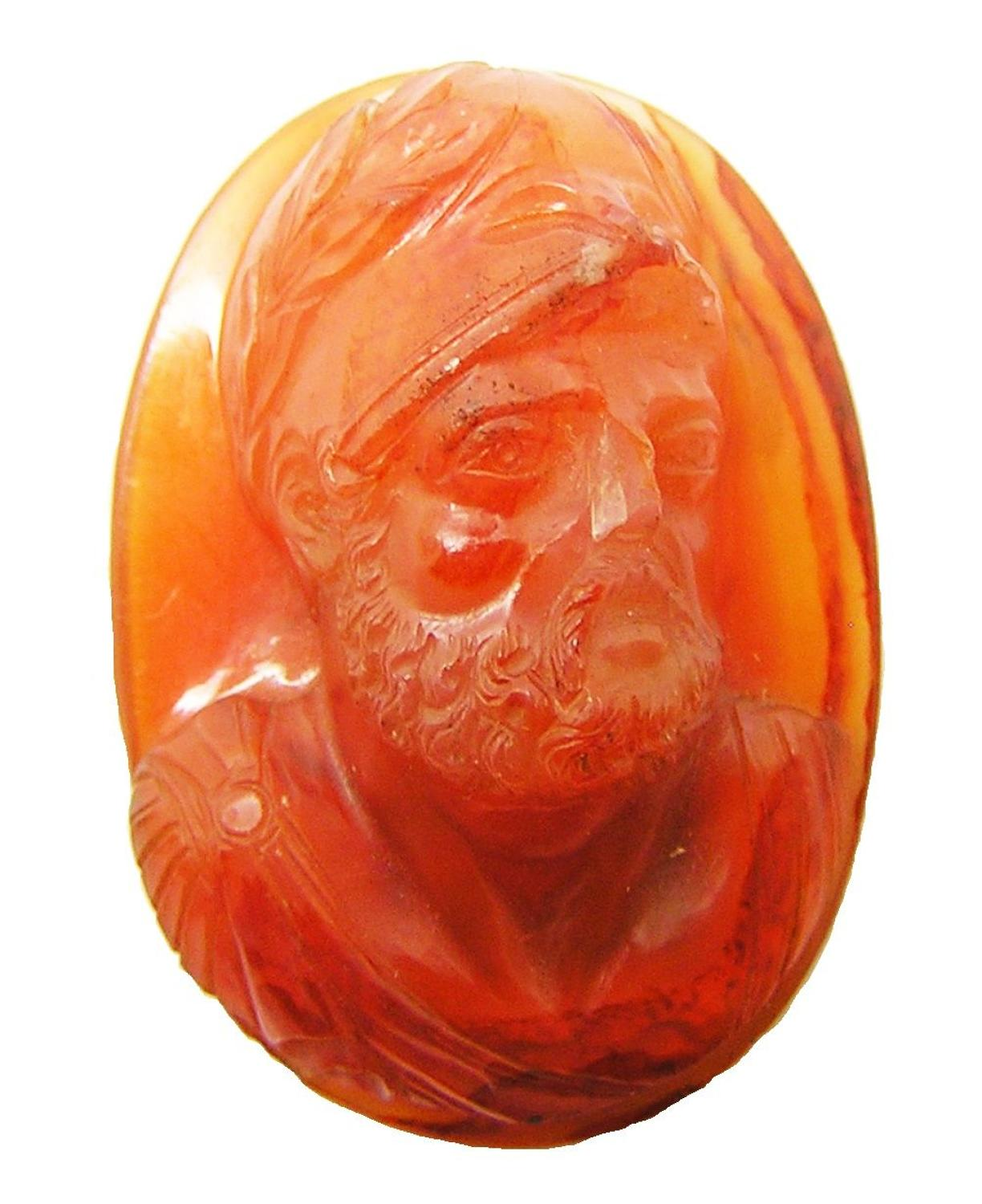 Renaissance hardstone relief cameo of Ajax the Great