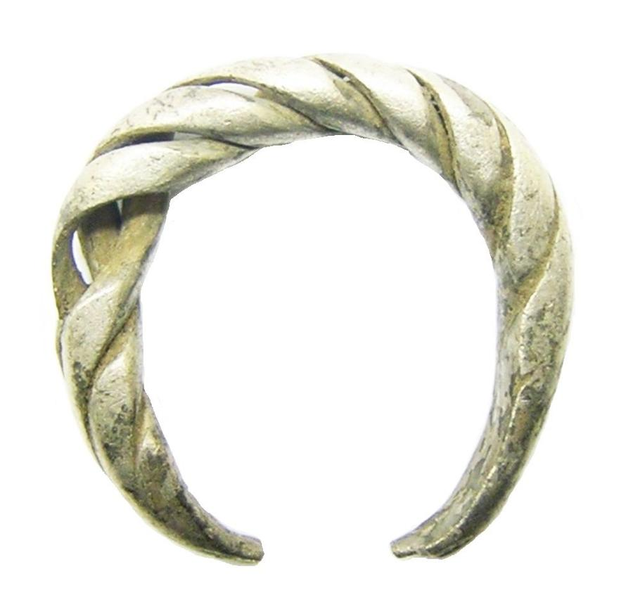 Scandinavian Viking silver finger ring
